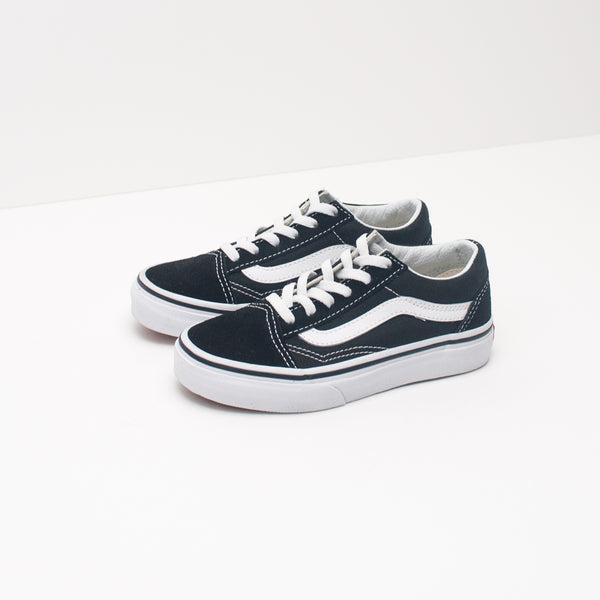 ZAPATILLA DE NIÑA Y NIÑO - VANS - OLD SKOOL BLACK TRUE WHITE VN000W9T6BT
