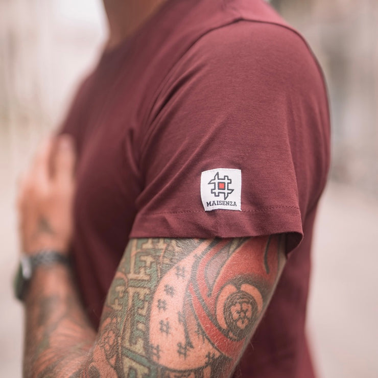 T-shirt Minimal Bordeaux