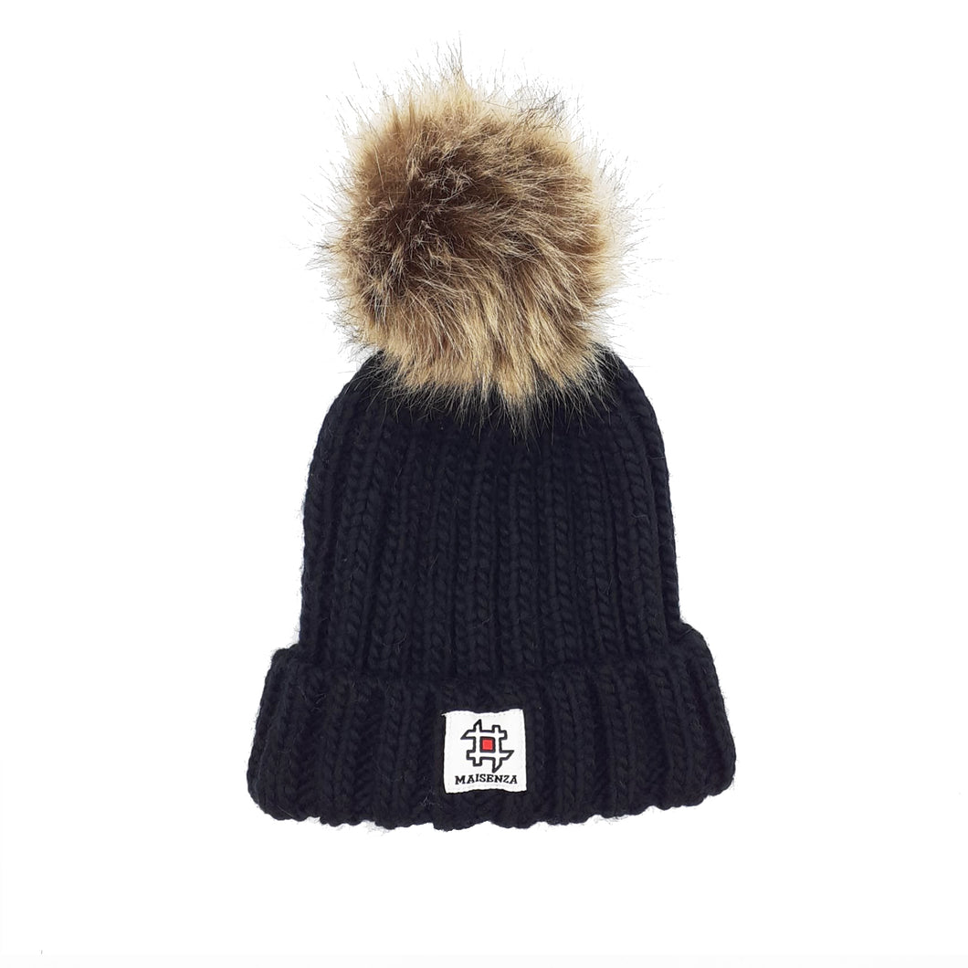 Pom Pom ECOBLACK Winter Hat Kid