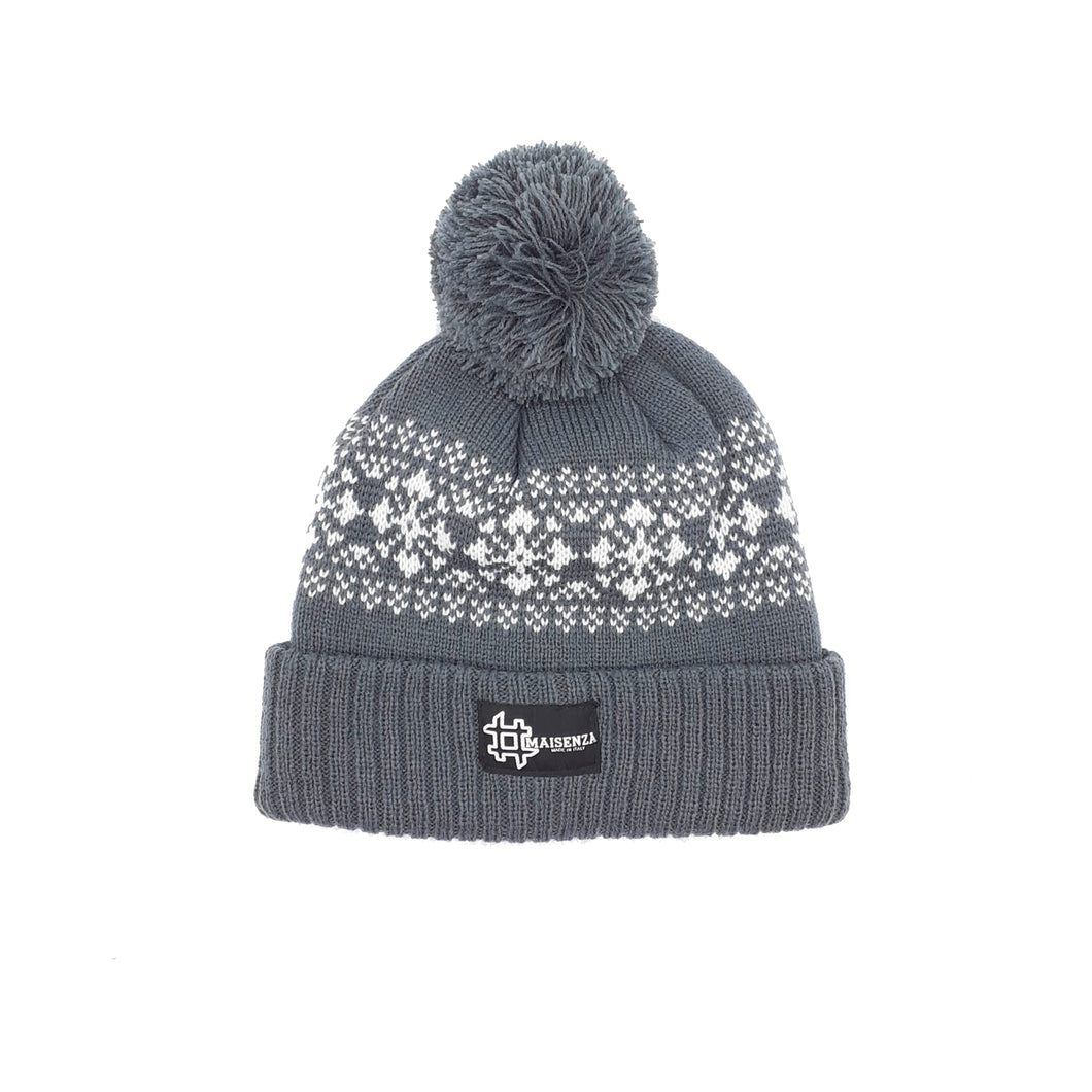 Pom Pom FANTASYDARKGREY Winter Hat
