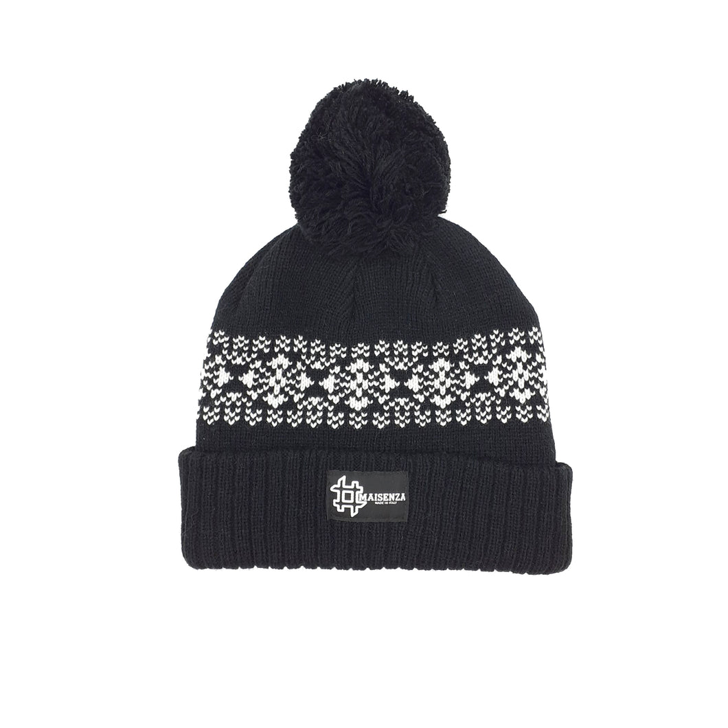Pom Pom FANTASYBLACK Winter Hat