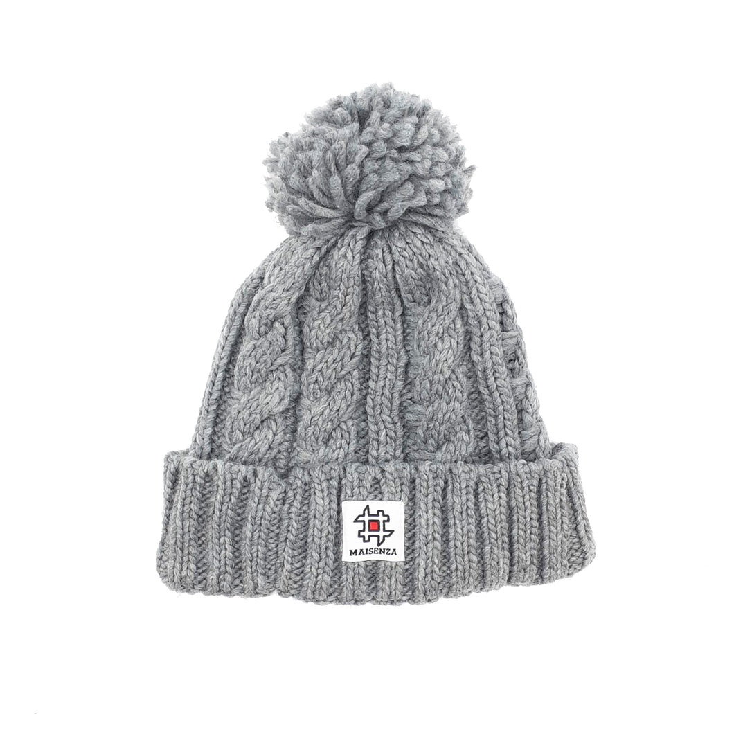 Pom Pom HEATERGREY Winter Hat