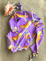 Girls Seahorse Swimsuit