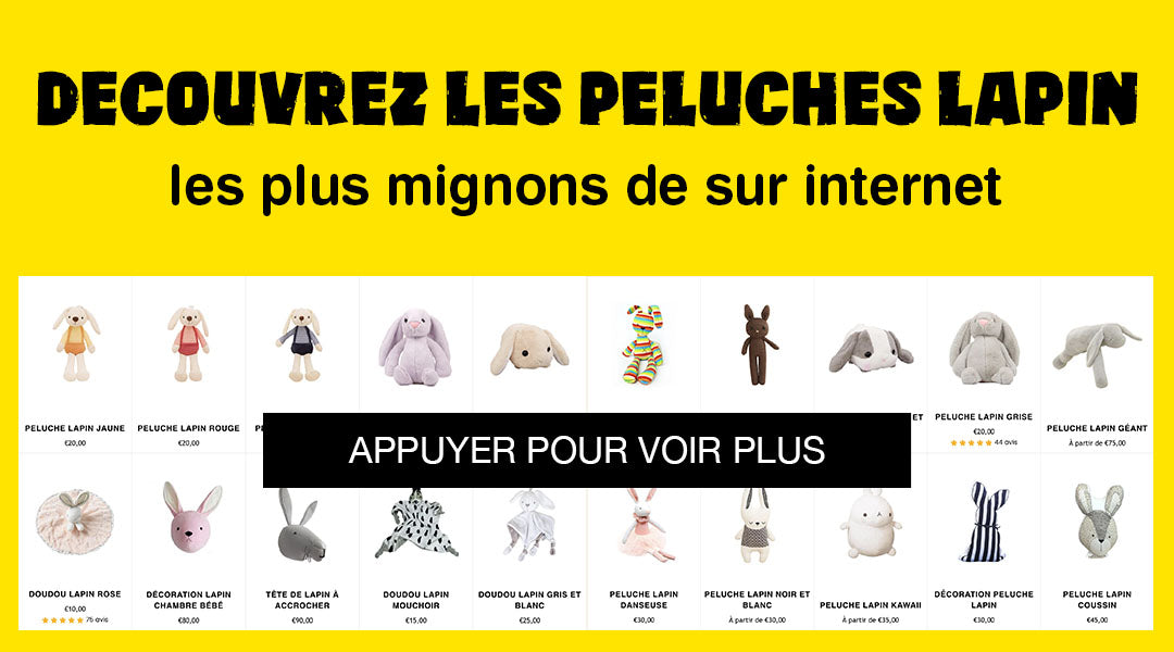 Collection Peluches Lapin | Peluche Royaume