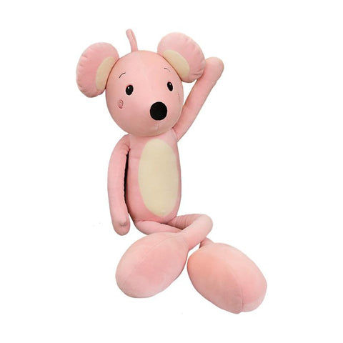 Grand Doudou Souris Rose