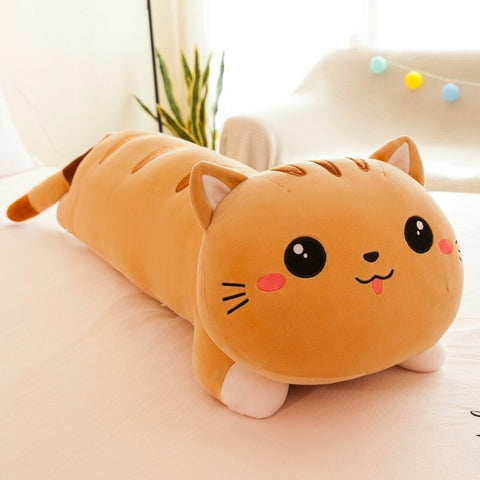 Peluche Chat Japonaise Orange