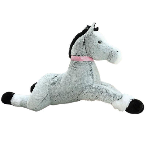 Peluche Cheval Gris | Peluche Royaume