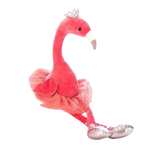 Peluche Reine Flamant Rose | Peluche Royaume