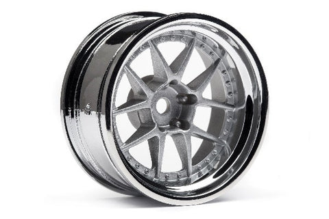 DY-CHAMPION 26MM WHEEL (CHROME/SILVER/9MM) 2 STK