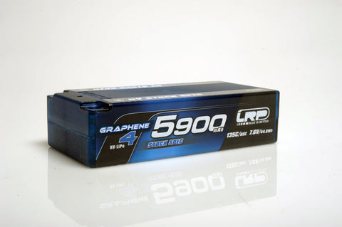 LRP Graphene-4 Stock Spec Shorty 5900mAh 7.6V 2S 135C/65C HV LiPo (5mm, 222g)