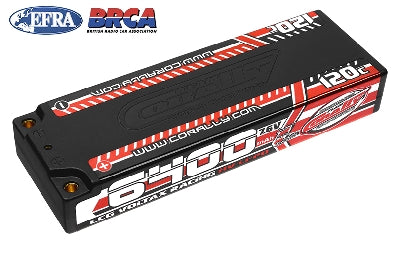 Team Corally - Voltax 120C LiPo HV Battery - 6400 mAh - 7.6V - LCG Stick 2S - 4mm stik