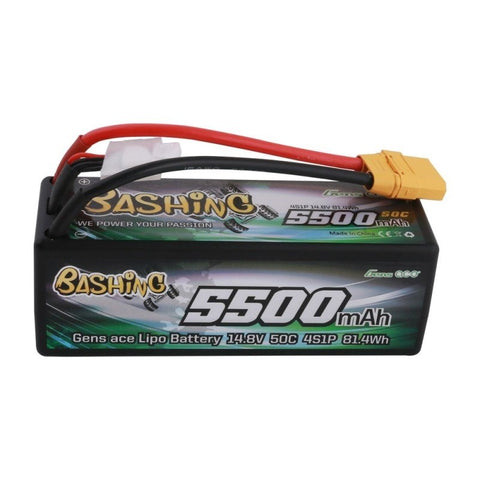 GENS ACE BATTERY LIPO 4S 14.8V-5500-50C(XT90) 139X46X49MM 460G