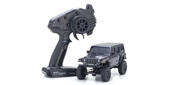 MINI-Z 4X4 MX-01 JEEP WRANGLER RUBICON GRANITE METALLIC (KT531P)