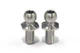 Reve D SPM Titanium Rod End Ball Short Neck (Diameter 4.3mm, Screw Length 6.0mm, 2pcs)