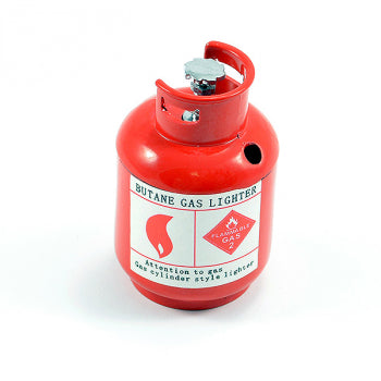 SCALE PAINTED ALLOY GAS BOTTLE RED