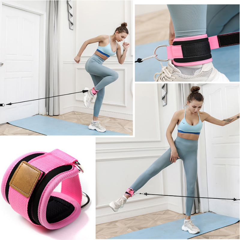 Resistance Bands with Ankle Straps Cuff with Cable for Attachment Booty Butt Thigh Leg Pulley Strap Lifting Fitness Exercise - Beaut-Fit.com