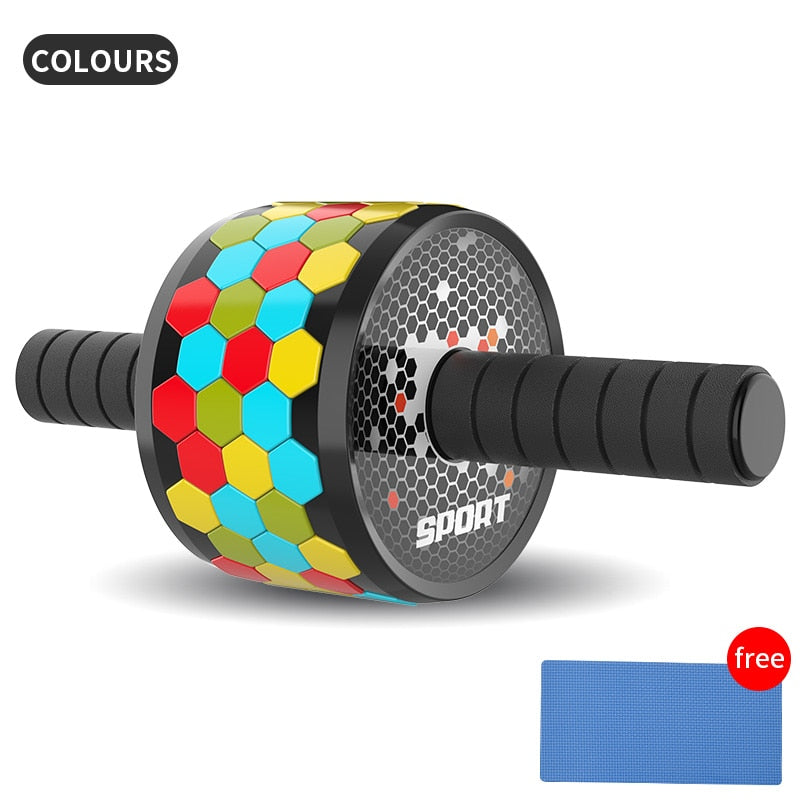 ABS fitness abdominal wheel exercise ABS roller fitness roller equipment mens and womens home gym mute roller arm training
