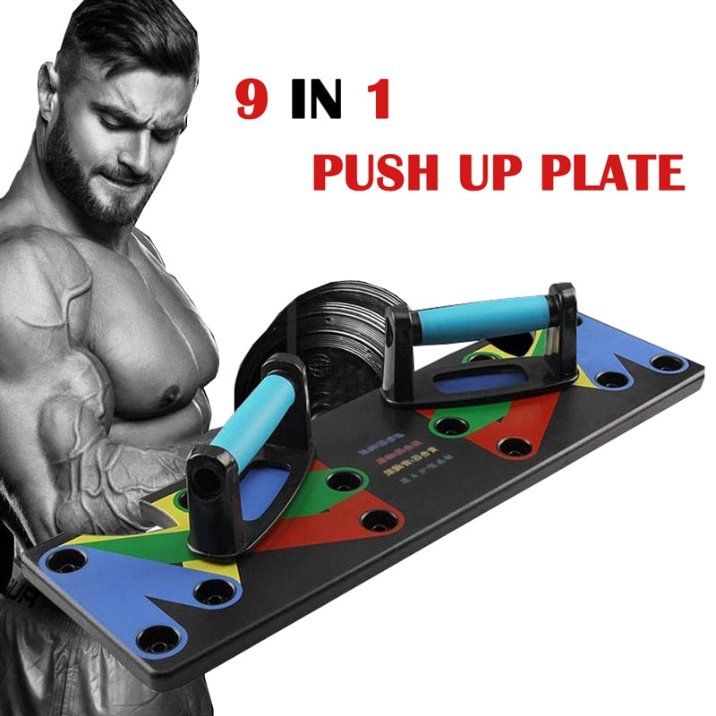 9 in 1 Push Up Rack Board Men Women Fitness Exercise Push-up Stands - Beaut-Fit.com