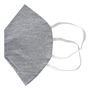 3 Layered Melt-blown Filter Face mask in Knitted Fabric Protective Face Masks Nomarchshop.com Grey