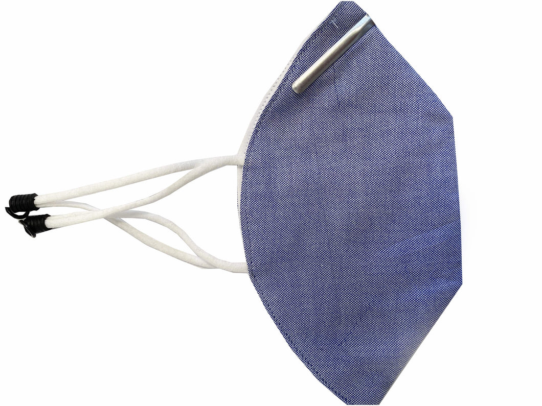 Melt Blown Filter Mask with Nose Pin in Chambray - Nomarchshop.com