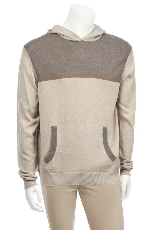 Hoodie with Modal accent in stripe In Silk Cashmere - Nomarchshop.com