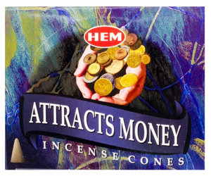 Attracts Money Hem Incense Cones