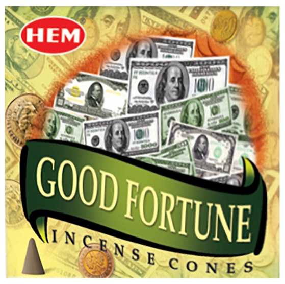 Good Fortune Hem Incense Cones