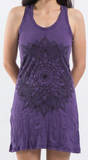 Mandala Tank Dress, Purple