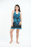 Tree of Life Tank Dress, Denim Blue