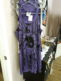 Yin Yang Tank Dress, Purple