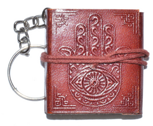 Hamsa Hand Journal Key Chain