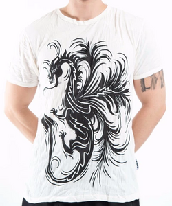 Men's Dragon T-Shirt, White