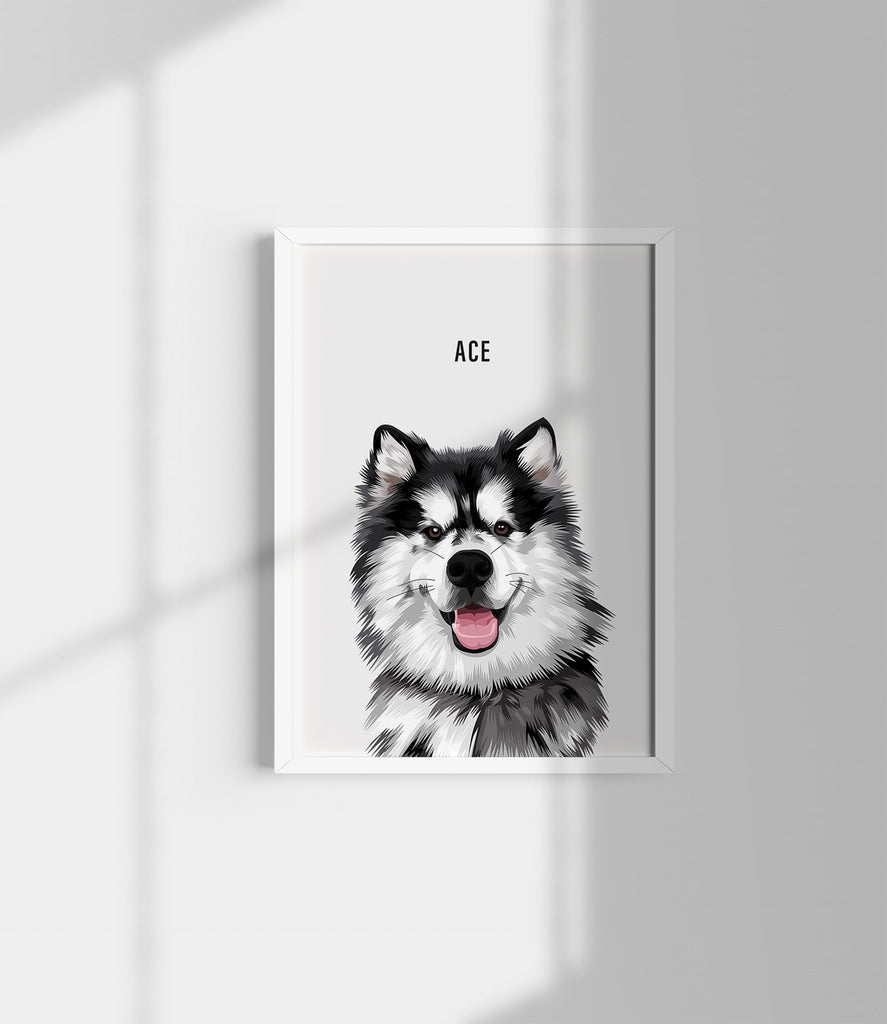 pet portrait off white