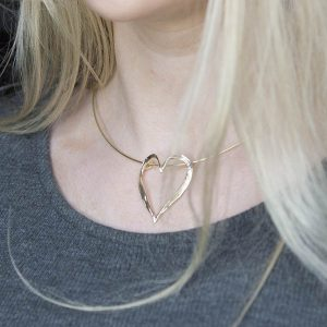The Open Heart Necklet in 9ct Gold