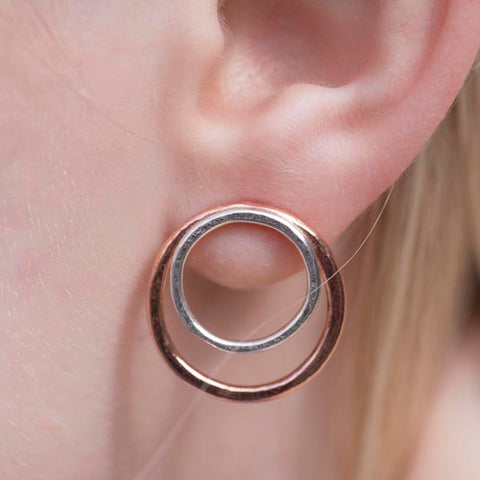 Organic copper and silver studs