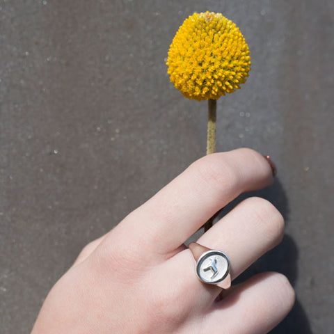 Alison's favourite from this collection, the horse signet ring is so very comfortable to wear