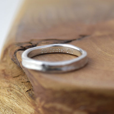 Important dates are a popular choice for personalisation of our rings