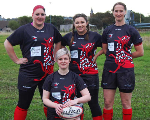 ORFC Women members sporting their new strip