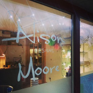 Alison Moore Designs window display