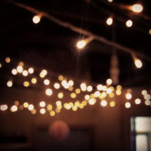 Twinkling Christmas lights at the studio x
