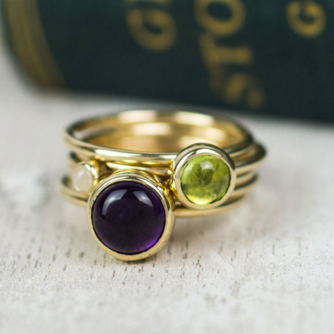 Gold Whimberry Stacking Ring Set