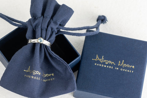 Cotton jewellery pouch