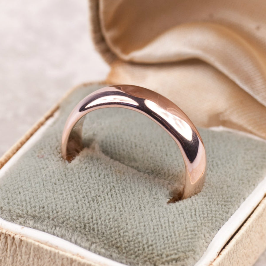 Simple Polished Gold Wedding Ring