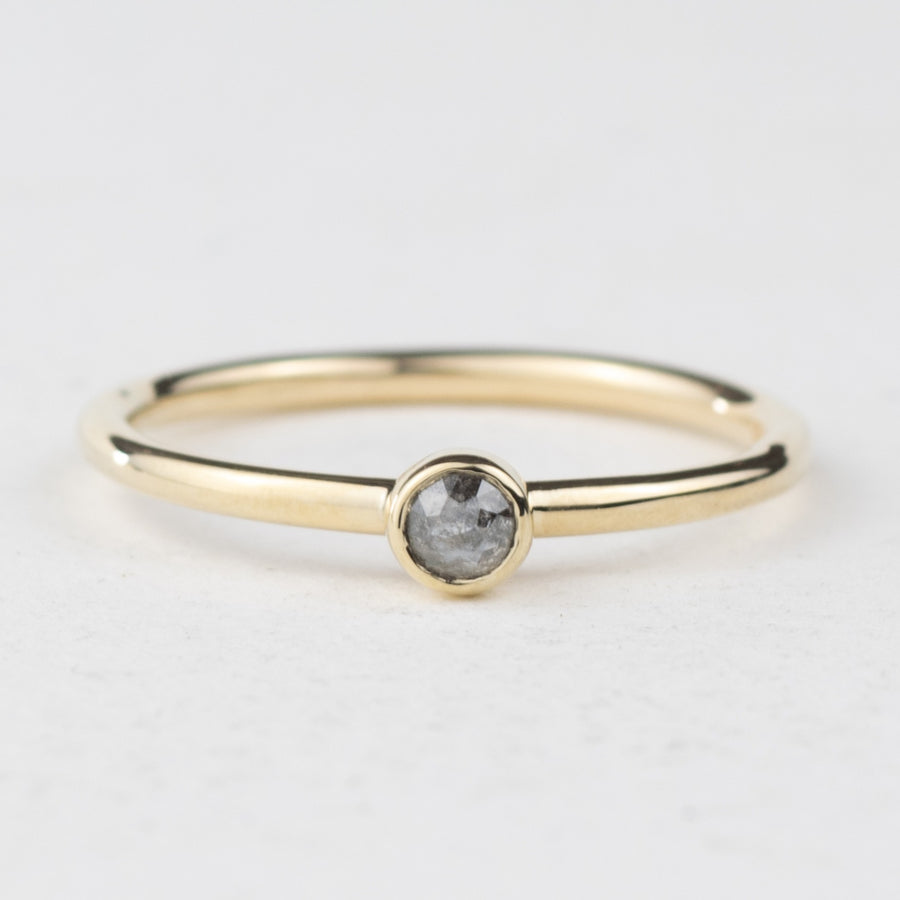 Nebula 3mm Grey Diamond Ring - No.703
