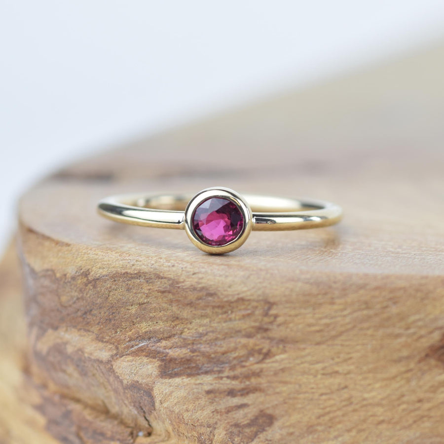 Andromeda Ruby Gold Ring