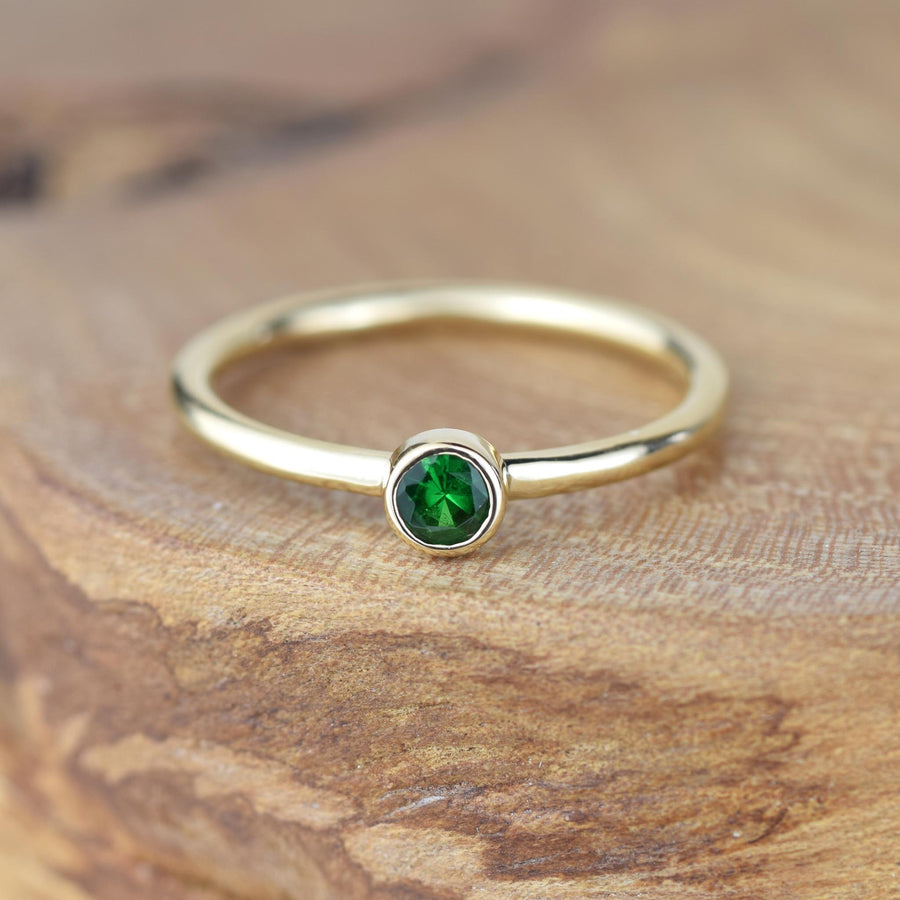 Andromeda Emerald Gold Ring