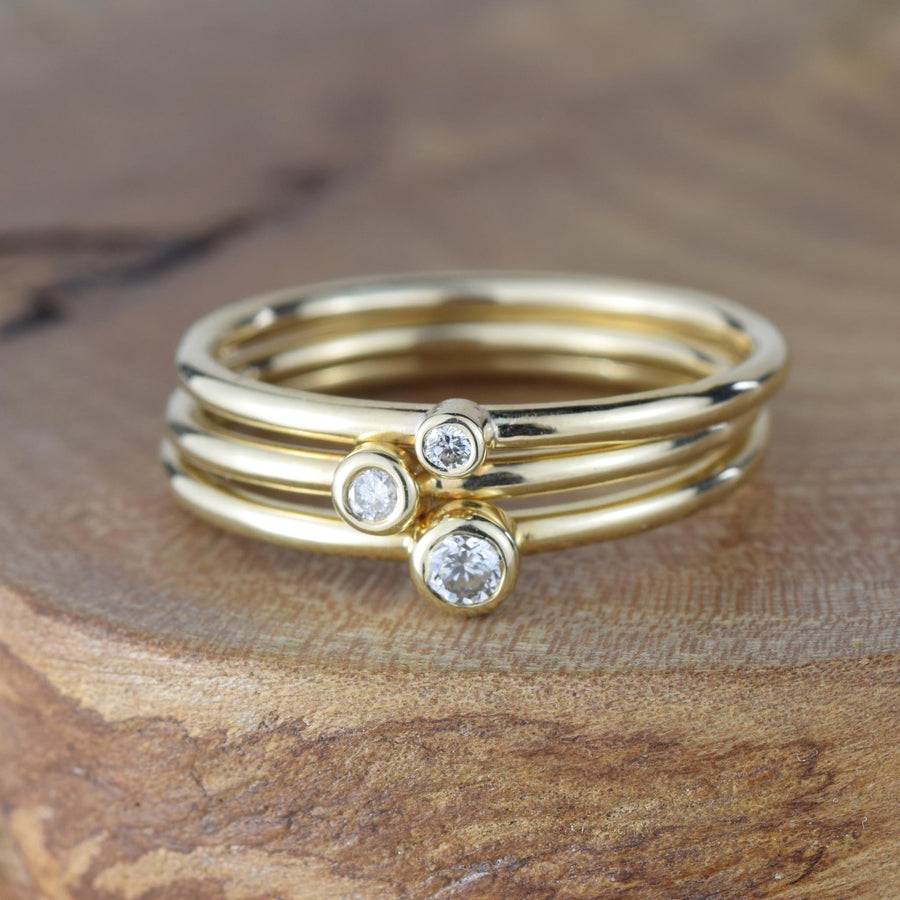 Andromeda 2.5mm Diamond Gold Ring