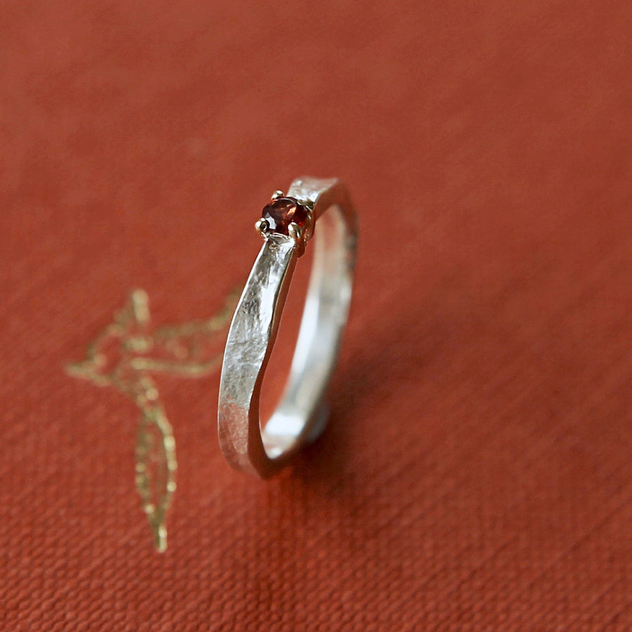 Garnet Thumbelina January Birthstone Ring