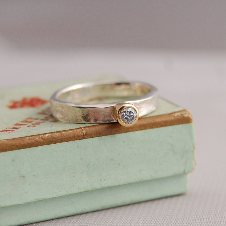 Silver Heidi Diamond Storybook Ring