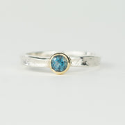 Blue Topaz textured ring